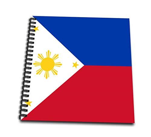 InspirationzStoreフラグ–フィリピン人フィリピンの国旗ブルーレッドホワイトwithゴールデンイエロー太陽と星pambansang Watawat–Drawing Book 4 by 4` db_159807_3