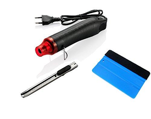 3pcs/set 220V 300W Electric Hot Air Heat Gun Car Scraper Squeegee Vinyl Cutter Knife