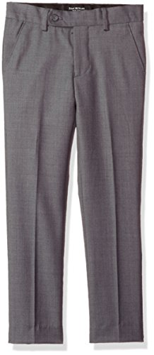 Isaac Mizrahi Little Boys' Solid Slim Fit Wool Pant, Charcoal, 7
