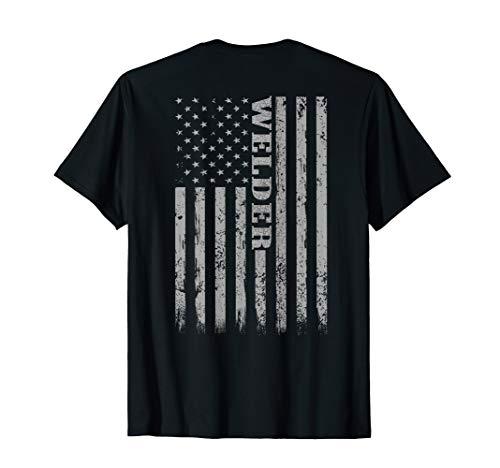- Mens Welders Vintage American Flag Welder Mig Gift T-Shirt