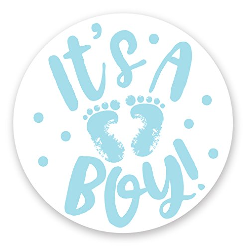It's A Boy Stickers (120 Count) - Blue Feet Baby Shower Envelope Seals Or Party Favor Labels