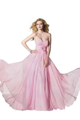 (Alyce Designs Strapless Long Dress 35418, Pink, 12)