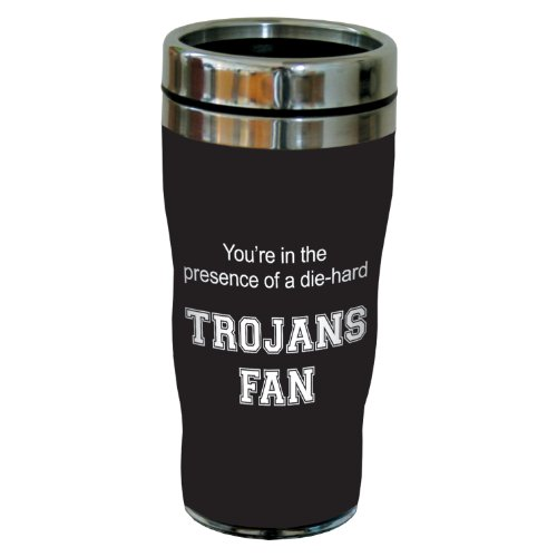 Tree-Free Greetings sg24632 Trojans College Basketball Sip 'N Go Stainless Steel Lined Travel Tumbler, 16 Ounce ()