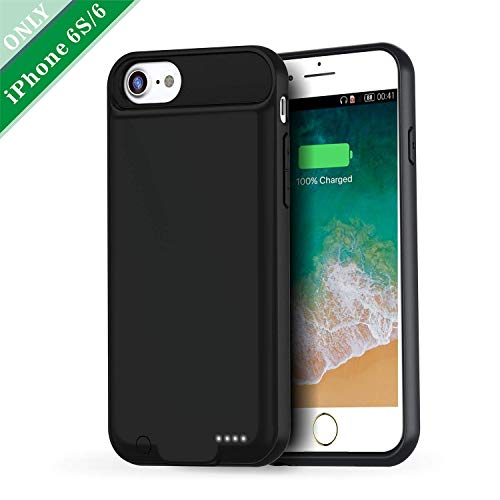 iPhone 6S/6 Battery Charger Case Slim, Vorcsbine 3000mAh Protective Charging Case for iPhone 6/6S-Black(4.7inch)