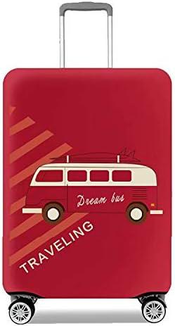 旅行スーツケースカバープロテクター弾性洗濯可能な荷物保護トロリーケースカバープロテクターフィット18-20インチ Red S