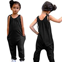 Baby Girls Straps Rompers, Franterd Kid Jumpsuits Piece Harem Pants Clothing