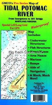 GMCO 15096PS Pro Series Tidal Potomac Waterproof River Map