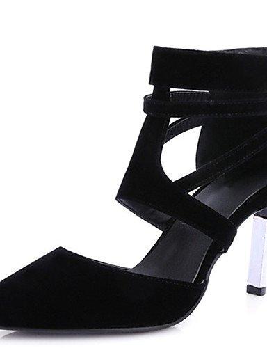GGX/ Damenschuhe-High Heels-Kleid / Lässig / Party & Festivität-PU-Stöckelabsatz-Absätze / Spitzschuh-Schwarz / Rot / Mandelfarben black-us6 / eu36 / uk4 / cn36
