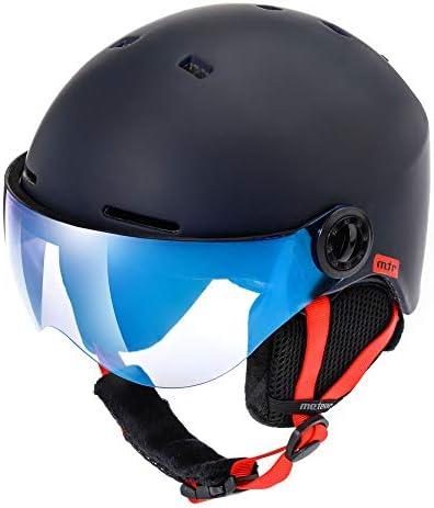 Skate e Alpinismo Unisex Skihelm Adjustable PHZ Casco da Sci Invernale e da Snowboard per Adulti Regolabile Ski Helmet per Gli Sport Invernali Nero, Large