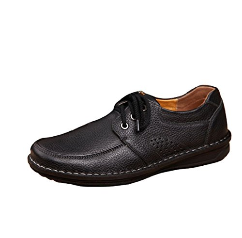 Driving Formal Shoes Flats Smart Handmade Casual Loafers Comfy Shoes Lace Up Oxford Moccasins Mens New Black IPHx7xg