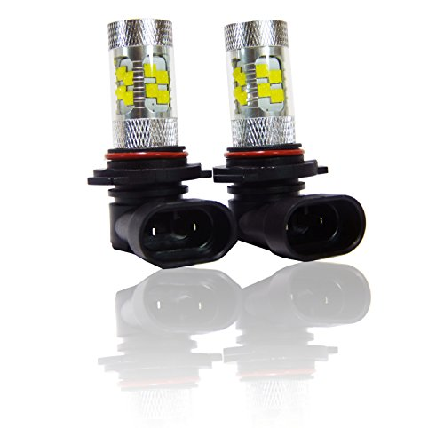 (Genssi Elite 100W Chips White LED Light Bulbs Headlight (9012 HIR2) (Pack of 2))