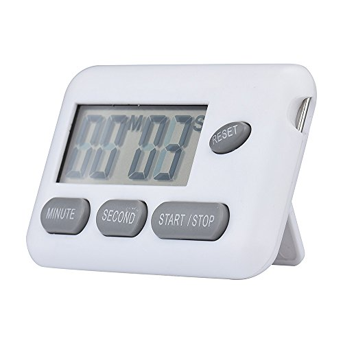 Price comparison product image Wensltd Portable Digital Countdown Timer Clock with Large Backlit LCD Display (White)