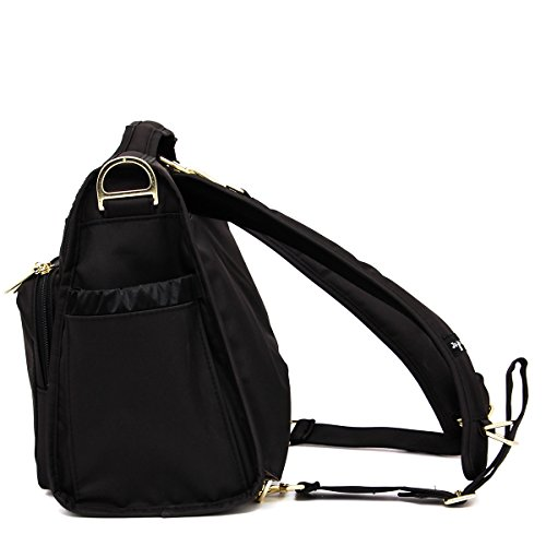 JuJuBe B.F.F Multi-Functional Convertible Diaper Backpack/Messenger Bag, Legacy Collection - The Monarch - Black by JuJuBe (Image #4)