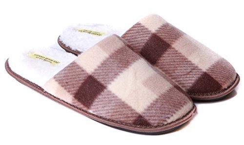 Slip Con Suola Pantofole 6 On Flessibile Da E Design Uk Taglia Fodera In Premium Uomo Marrone 13 A Pelliccia Dura 1qYtqB