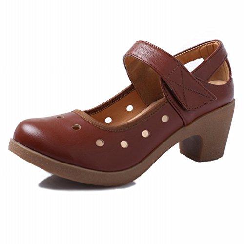 BYLE Sandalias de Cuero Tobillo Modern Jazz Samba Zapatos de Baile Zapatos de Baile Zapatos de Baile Cuadrado Inferior DE 38 Soft