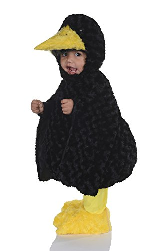 Toddler's Black Crow Belly Babies Costume - Large
