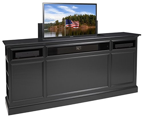TVLiftCabinet Suite TV Cabinet, Black
