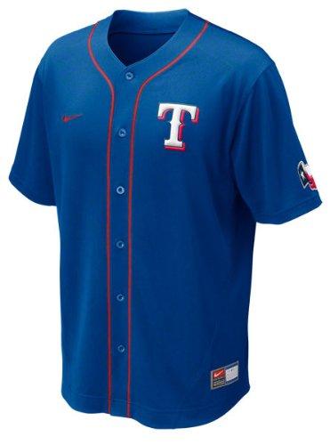 Nike MLB Texas Rangers MLB Performance Jersey - Royal Blue (X-Large)