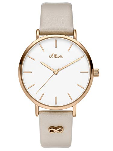 s.Oliver Womens Analogue Quartz Watch with Leather Strap SO-3747-LQ