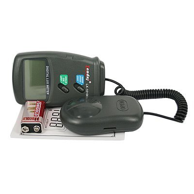 Digital Luxmeter/Digital Illuminance Light Meter with LCD Display 0.1-50, 000 Lux Range HDE HDE-F86