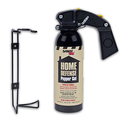 (SABRE Red Pepper Gel - Police Strength - Family, Home & Property Defense Gel with Wall Mount Bracket)