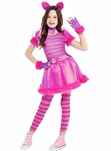 HalloCostume Girls Cheshire Cat Costume, Halloween Costumes for Girls