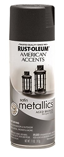 Rust-Oleum 202646 Designer Metallics Spray, Aged Bronze, 11-Ounce - 2 Pack