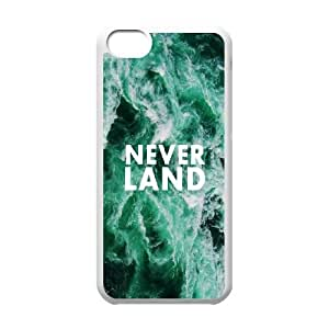 iPhone 5c Cell Phone Case White quotes parallax neverland sea Fxyxi