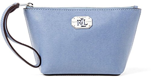 Lauren by Ralph Lauren Saffiano Leather Cosmetic Travel Case Bag Wristlet