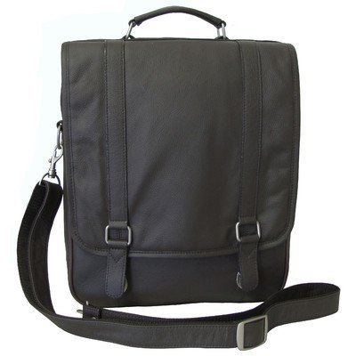 AmeriLeather Leather Laptop Backpack Briefcase (Black)