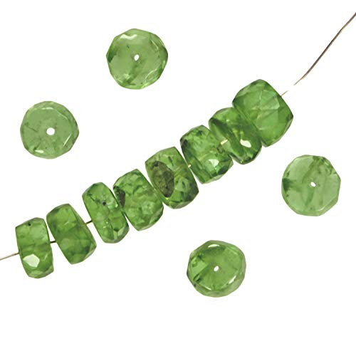 (Peridot Faceted Rondelle Beads 5.5 to 6mm x 3mm (12))