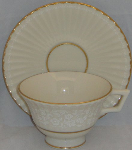 - Lenox Citation Lace Footed Cup & Saucer Set