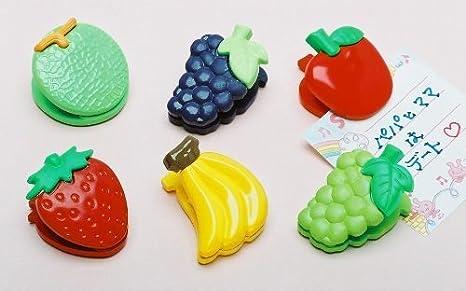 Iwako por temas Clips Kawaii papel frutas (6 piezas) de Japón: Amazon.es: Juguetes y juegos