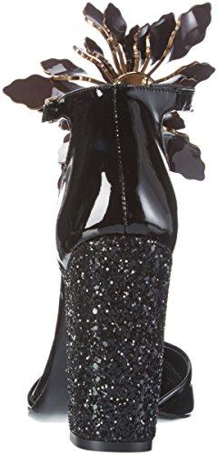 Enooba Mujer Cerrada Tacón Para Zapatos Punta amp; Negro De Joe Paul Con q7FwHF
