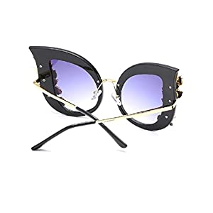 YABINA Luxury Sunglasses Women Inlaid Rhinestone Retro Sun glasses (01)