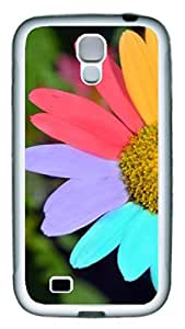 Brian114 Samsung Galaxy S4 Case, S4 Case - Slim Ultra Fit Soft Rubber Case for Samsung Galaxy S4 I9500 Rainbow Daisy 2 Popular Design White Back Cover for Samsung Galaxy S4 I9500