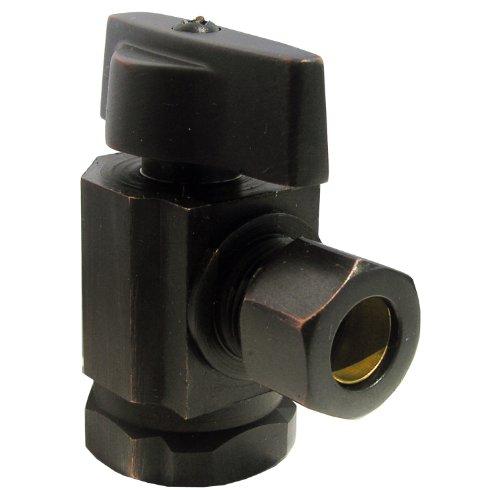 - LASCO 06-9201OB Angle Stop, Quarter Turn, 1/2-Inch Female Iron Pipe X 3/8-Inch Od Compression, Dark Oil Rubbed Bronze