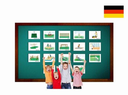 Playground Flashcards in German - Bildkarten - Spielplatz