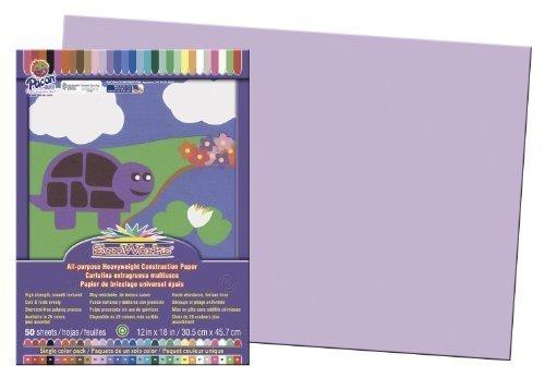SunWorks Groundwood Construction Paper Color: Lilac Model: PAC7107