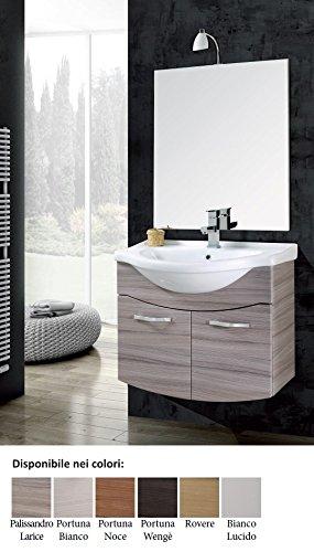 mobile da bagno con lavabo sospeso con specchio Vittoria Arredo per ...