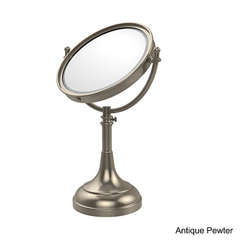 Allied Brass DM-1/5X-PEW 8-Inch Table Mirror with 5x Magnification, Antique Pewter (Allied Brass Table Mirror)