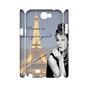 Audrey Hepburn Quotes DIY 3D Cover Case for Samsung Galaxy Note 2 N7100,personalized phone case ygtg-780395