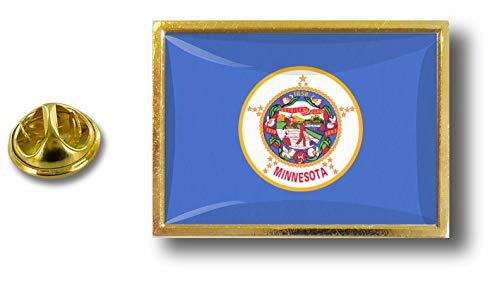 con Estados Estados de la metal de del alfiler Akacha Clip Minnesota Unidos alfileres de los de mariposa insignia de Perno wZ7qBSTnq