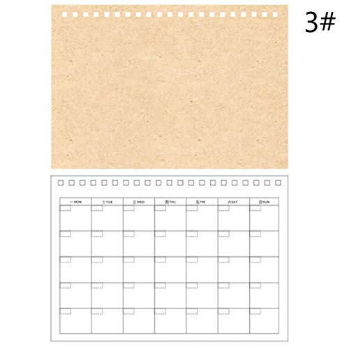 JUSTDOLIFE Schedule Notebook Multi-Purpose Writing Wirebound Notebook