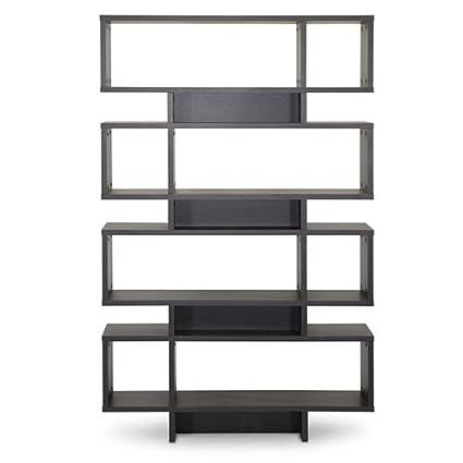 Baxton Studio Cassidy 8 Level Modern Bookshelf Dark Brown