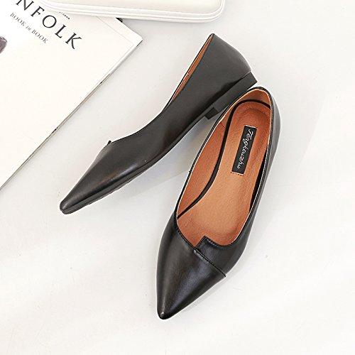 Xue Zapatos Zapatos Cercan Planos la Zapatos Planos Qiqi de Corte con Boca Baja Zapatos con de Bajos Punto Femeninos de rnq7TrSH