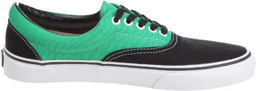Vans Era, Zapatillas de skate Unisex Negro (Black/Bright Green)