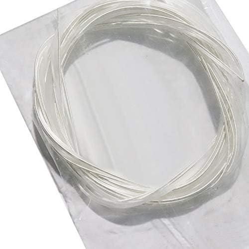 Jeu de cordes en nylon argent/é et transparent pour guitare classique 1M 1-6 E B G D A E