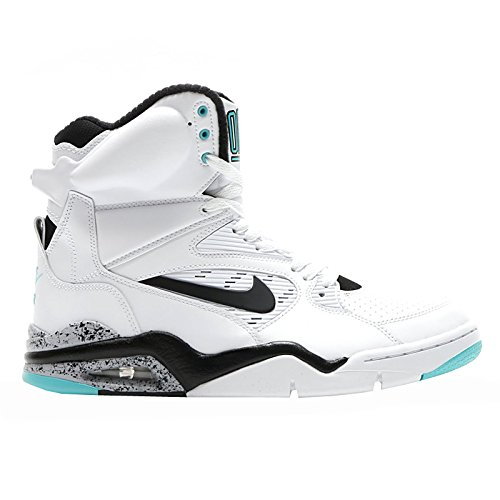 (Nike Men's Air Command Force White/Black/Wolf Grey/Volt Basketball Shoe 13 Men US)