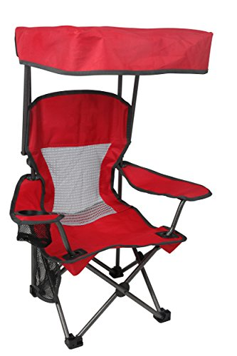 (Westfield Outdoor Red Kid's Folding Chair with Canopy and Durable Carry Bag)